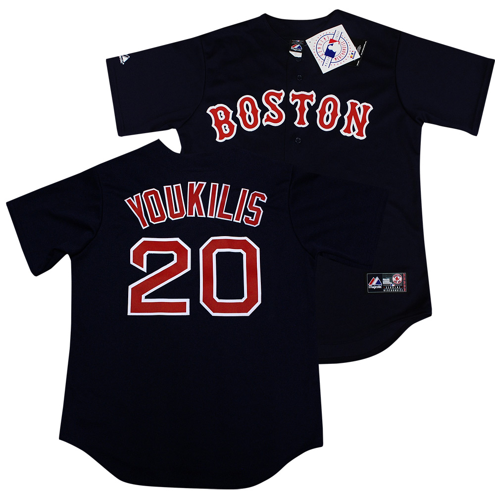 c3227e8d0 Boston Red Sox Kevin Youkilis Navy Sewn Jersey L on PopScreen