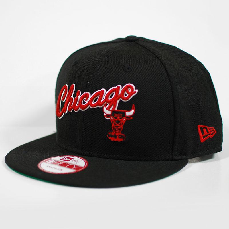 54e313e2b1b CHICAGO BULLS New Era Script CHICAGO Snapback Hat on PopScreen