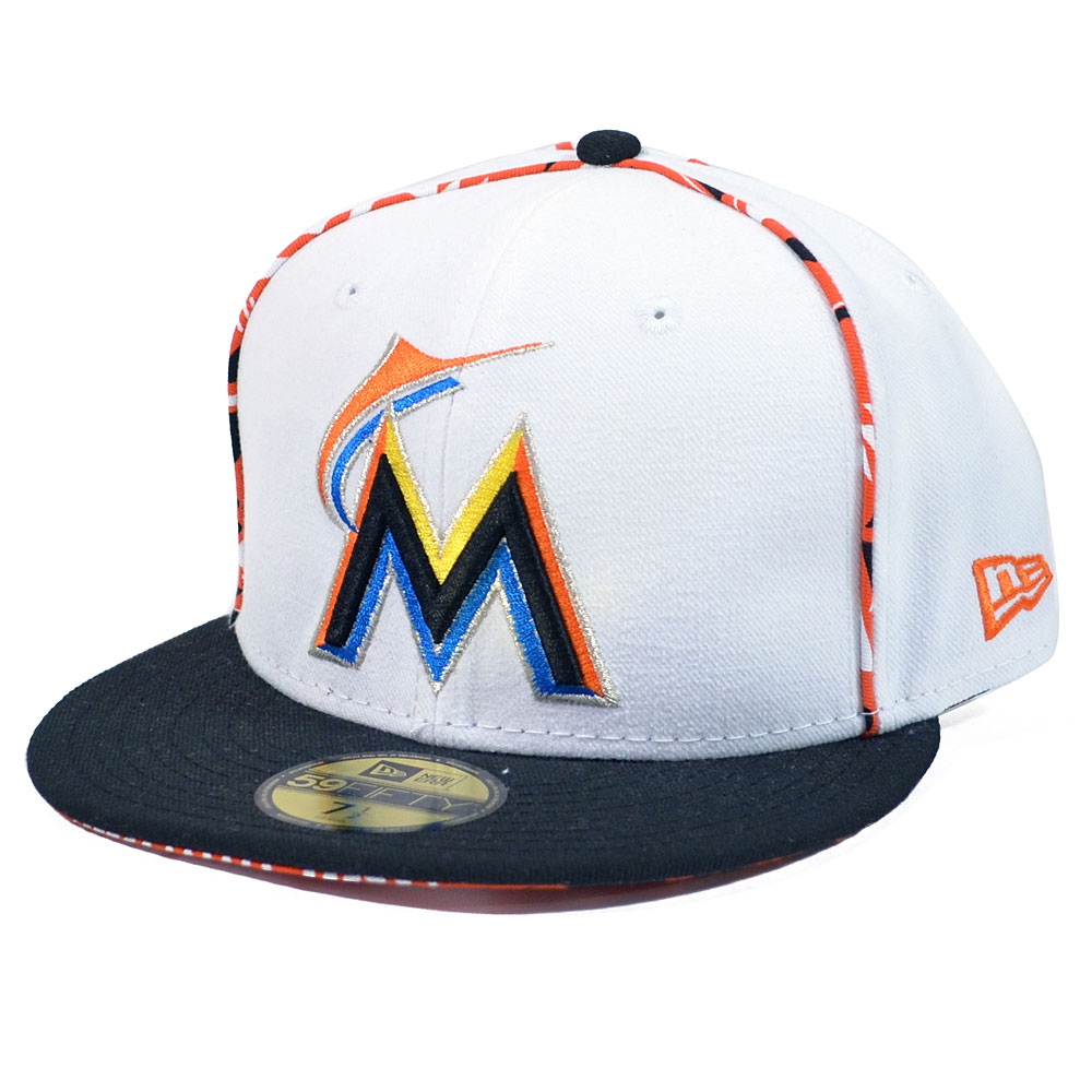 miami marlins x pop 59fifty fitted hat ebay